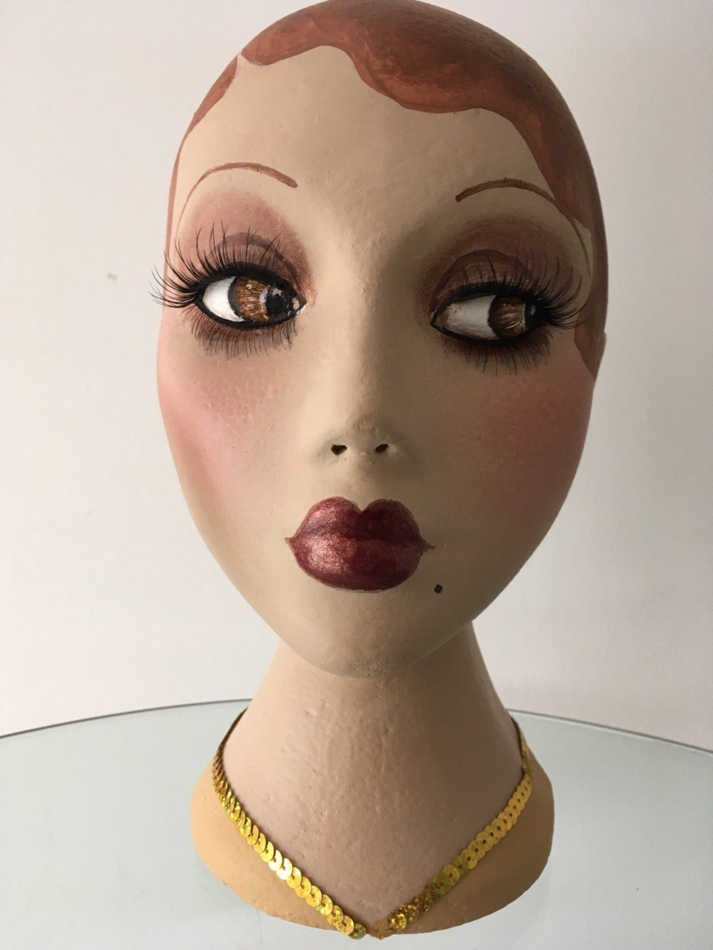 Mannequin head hand painted flapper girl eBay in 2020