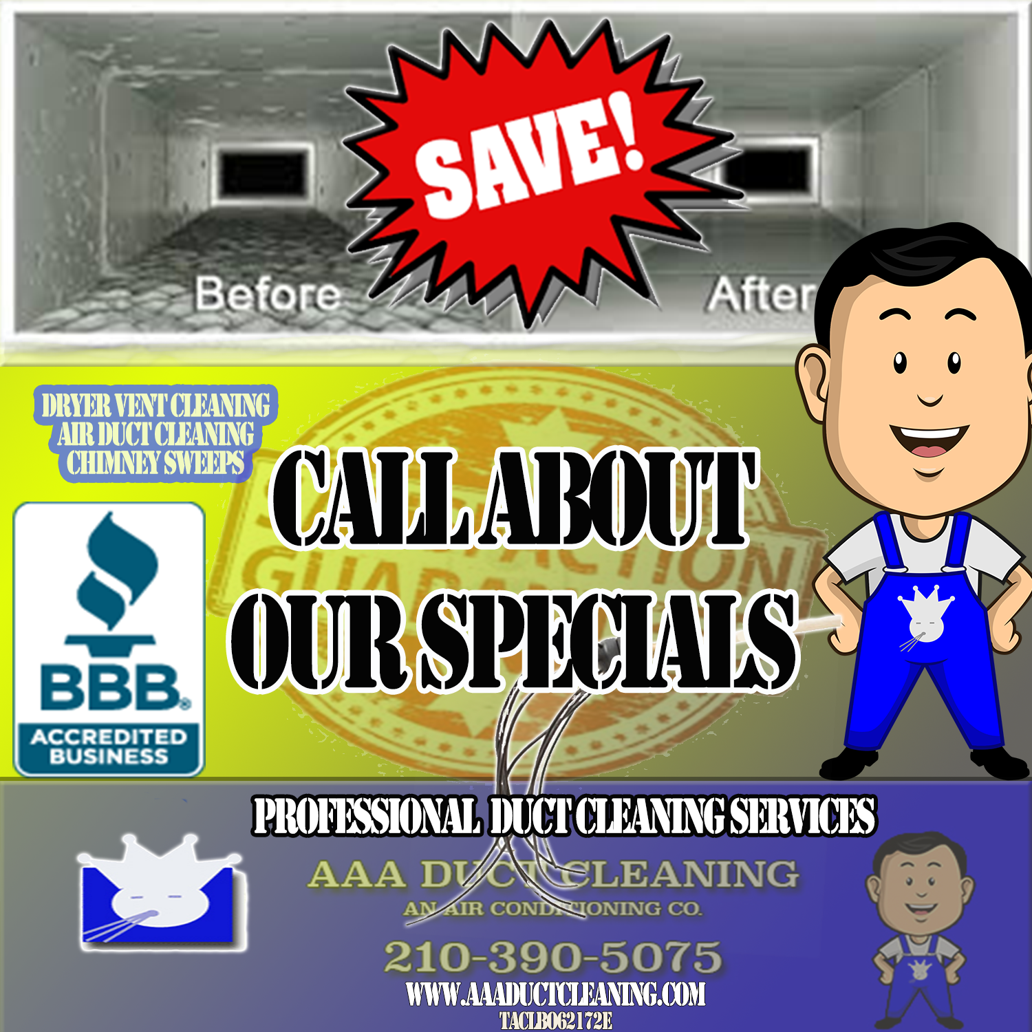 Air Duct Cleaning specials on 1500 sq. ft or less Click to