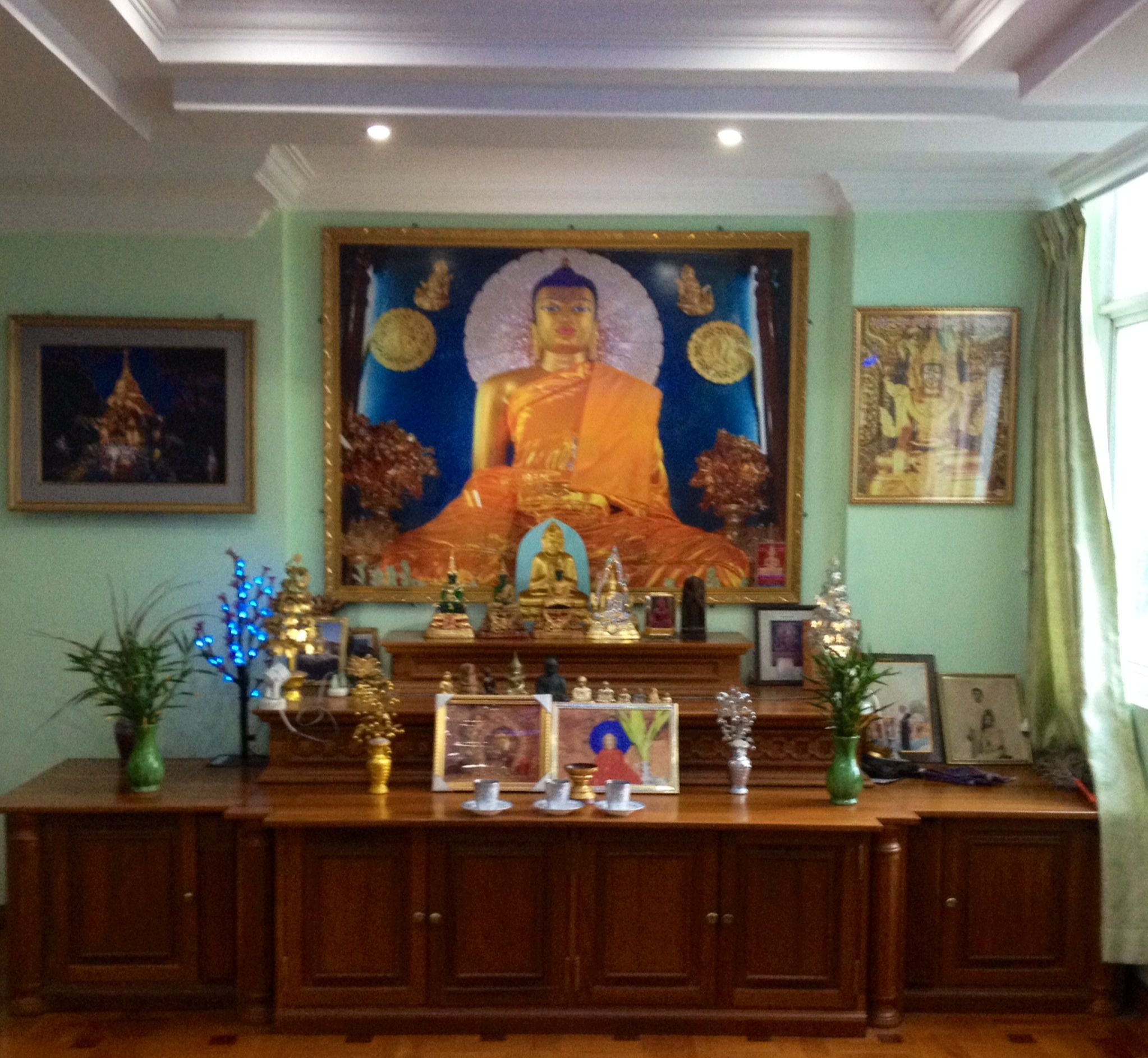 Buddhist Altar In A Traditional Burmese Home Buddha Buddhism Yangon Myanmar Voices Of