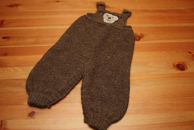 bukse, strikket med åpning til bleieskift