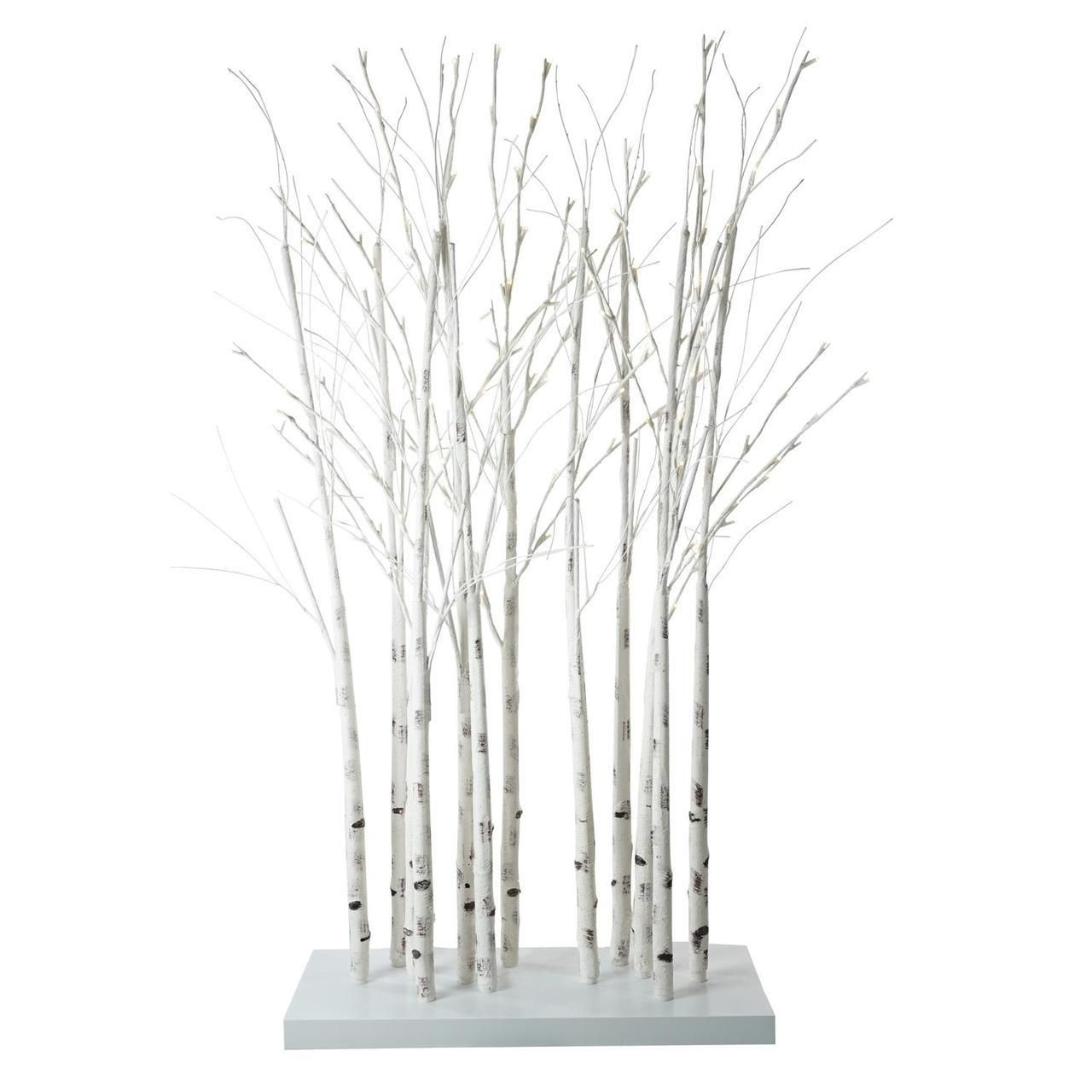 4' LED Lighted White Twig Tree Cluster Outdoor Christmas Yard Art  Decoration - 31740169
