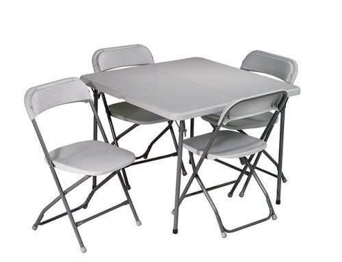 Office Star Resin 5 Piece Folding Chair And Table Set 4 Chairs 3