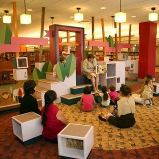 Evanston Childrens Library Space Installation Fabrication Educational Area Hands On Learning Design