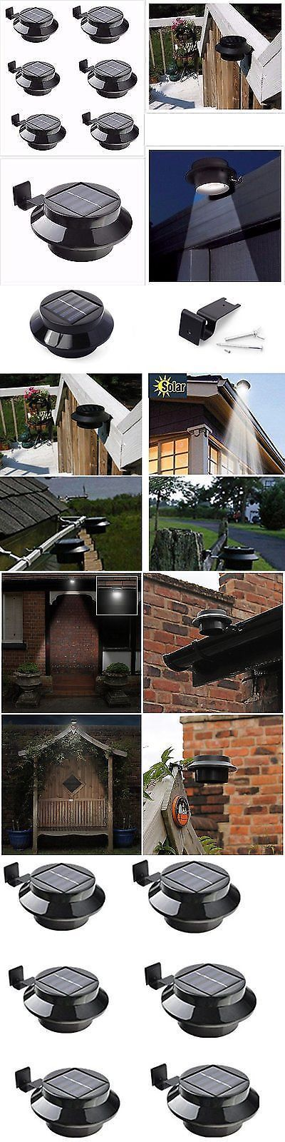 Farm And Garden: 6 Pack Solar Power Outdoor Waterproof Gutter Fence Led  Security Spot Flood Great Pictures