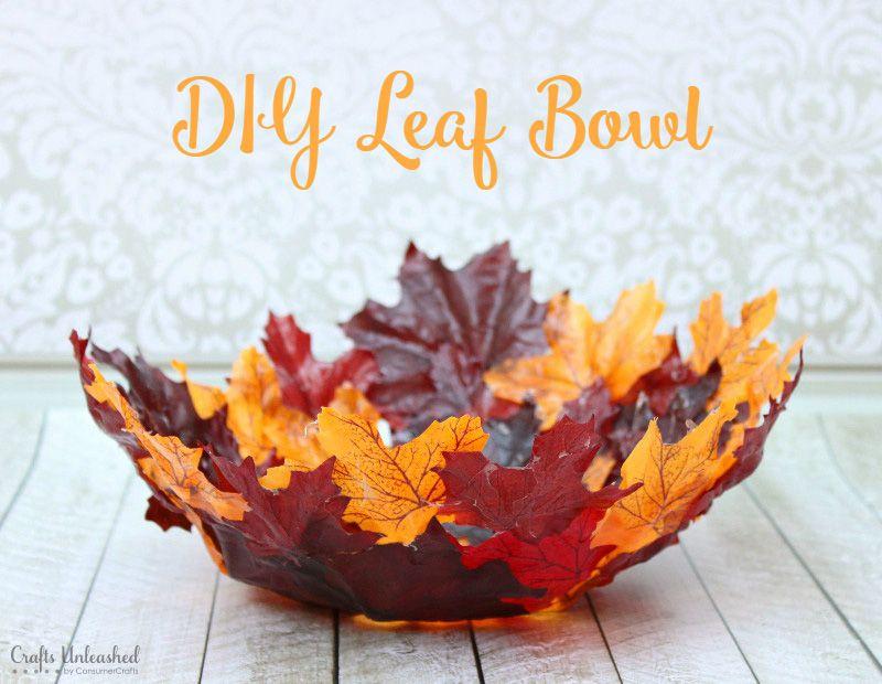 Decorative Leaf Bowl Leaf Bowl Diy Craft Perfect For Fall  Crafts Unleashed  Leaf