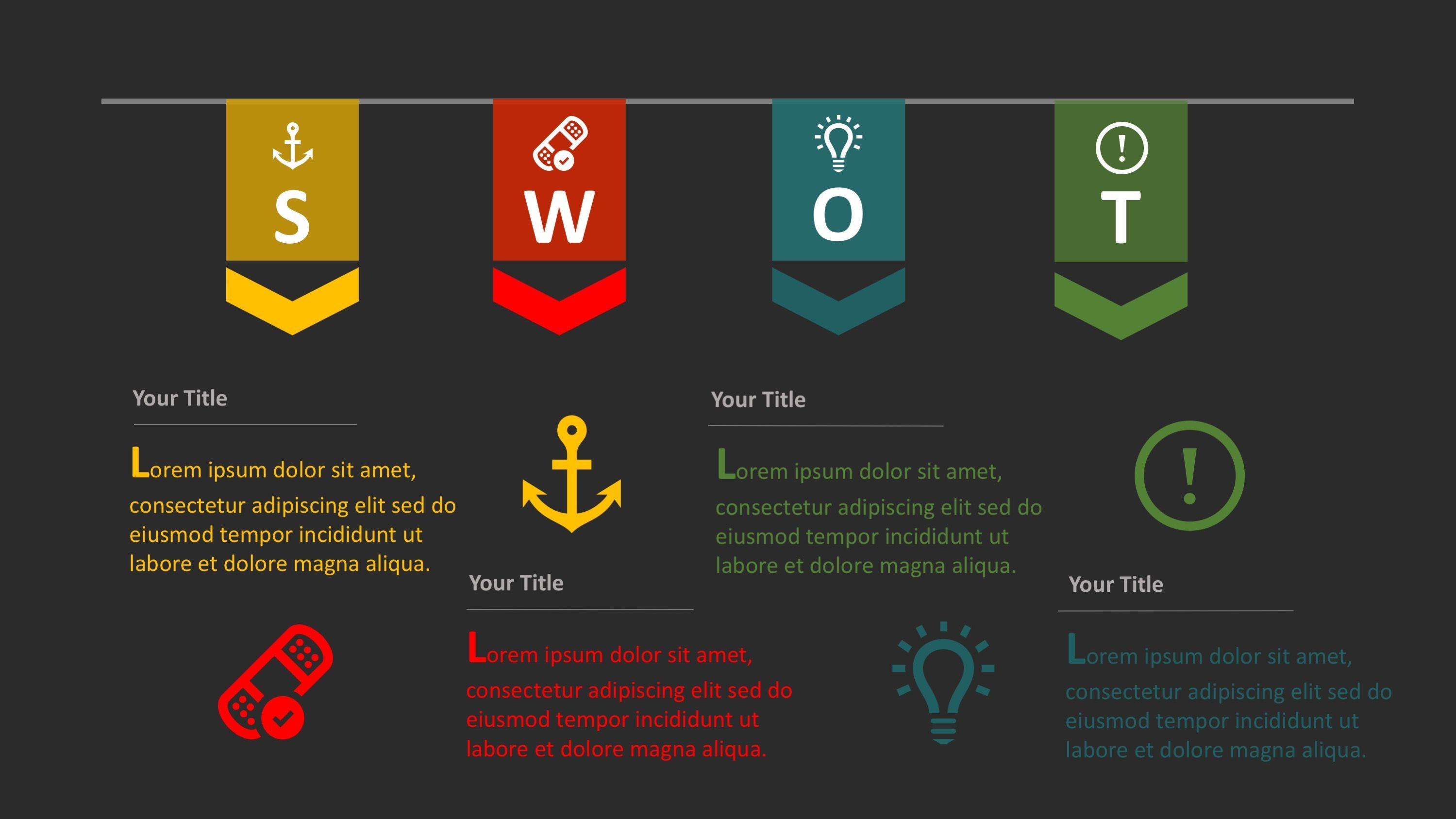 Planning SWOT Template for PowerPoint | Infografiken