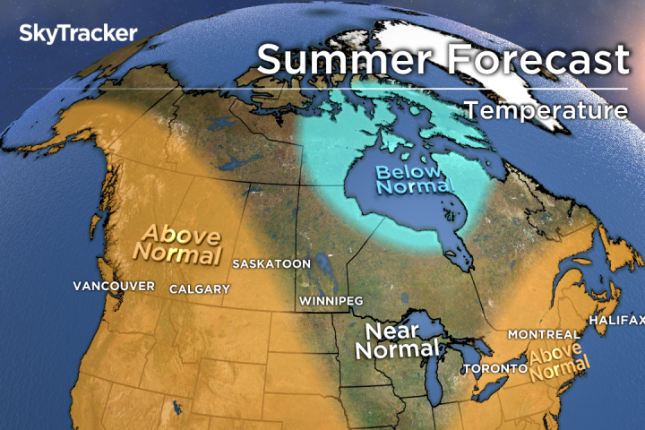 Canada Weather Map Temperature.Summer Weather Forecast A Warm Canadian Summer With A Few