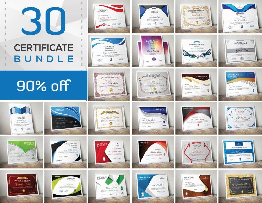 30 Essential Certificate Template Bundle (1) Certificate of - blank certificate of attendance