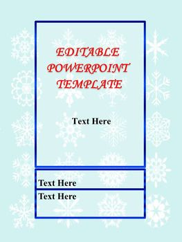 Snowflake Editable Powerpoint Templates Tpt Collaborative