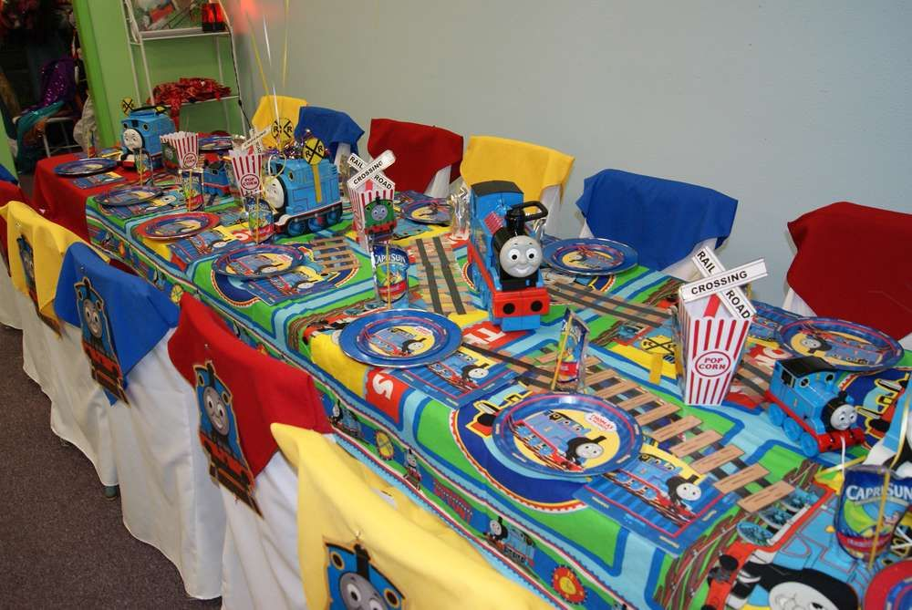 Thomas the Train party Birthday Party Ideas Birthday party ideas