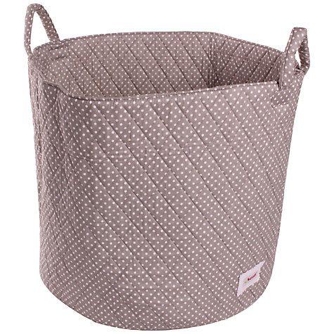 Buy Minene Large Dots Storage Basket, Grey Online at johnlewis.com