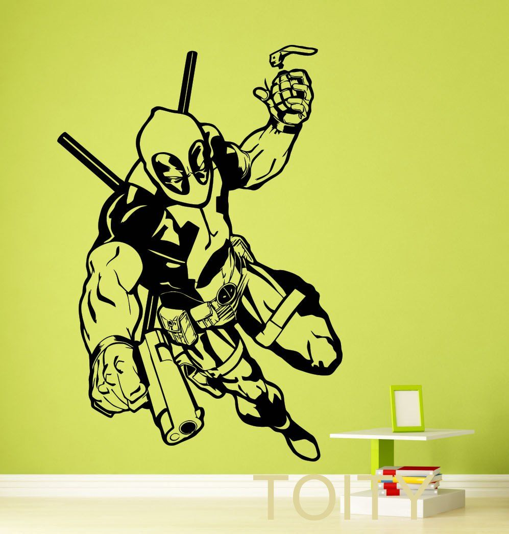 Deadpool Wall Sticker | Marvel Wall Sticker Collection – In Tecno ...