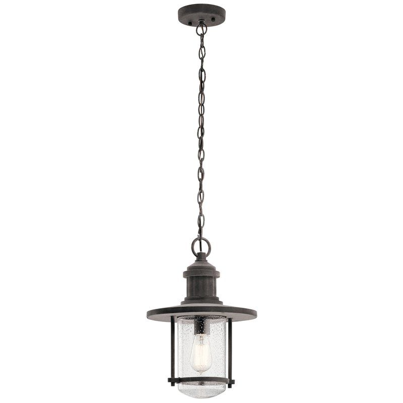 Kichler riverwood outdoor pendant light welcome your guests in style with the kichler riverwood outdoor pendant light made from aluminum and finished in