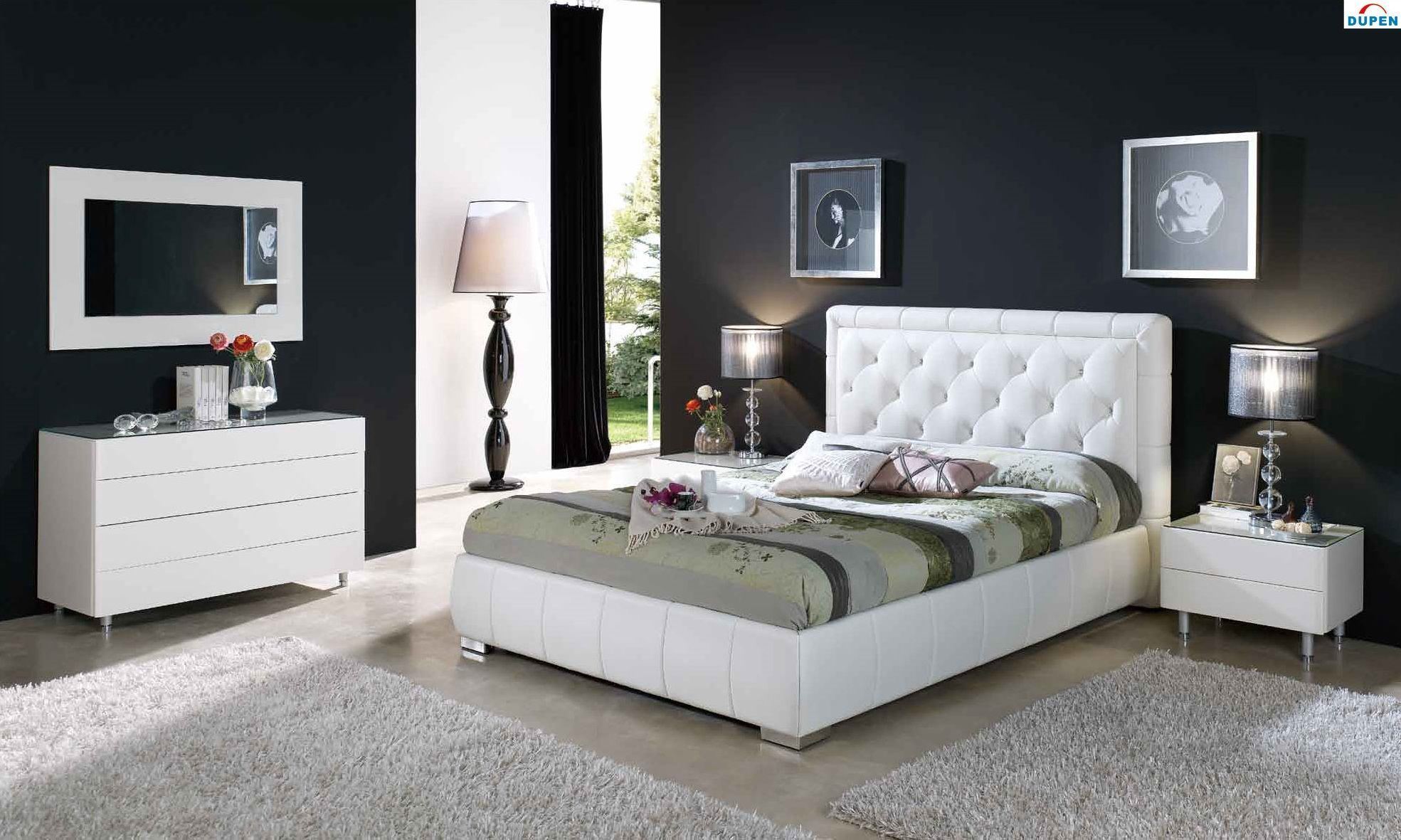 Amazing And Modern Bedroom Furniture Designs Bedrooms Style Set With White  Leatherette Headboard #end2018 #furnituresets #decoration  #bedroomdecoration ...