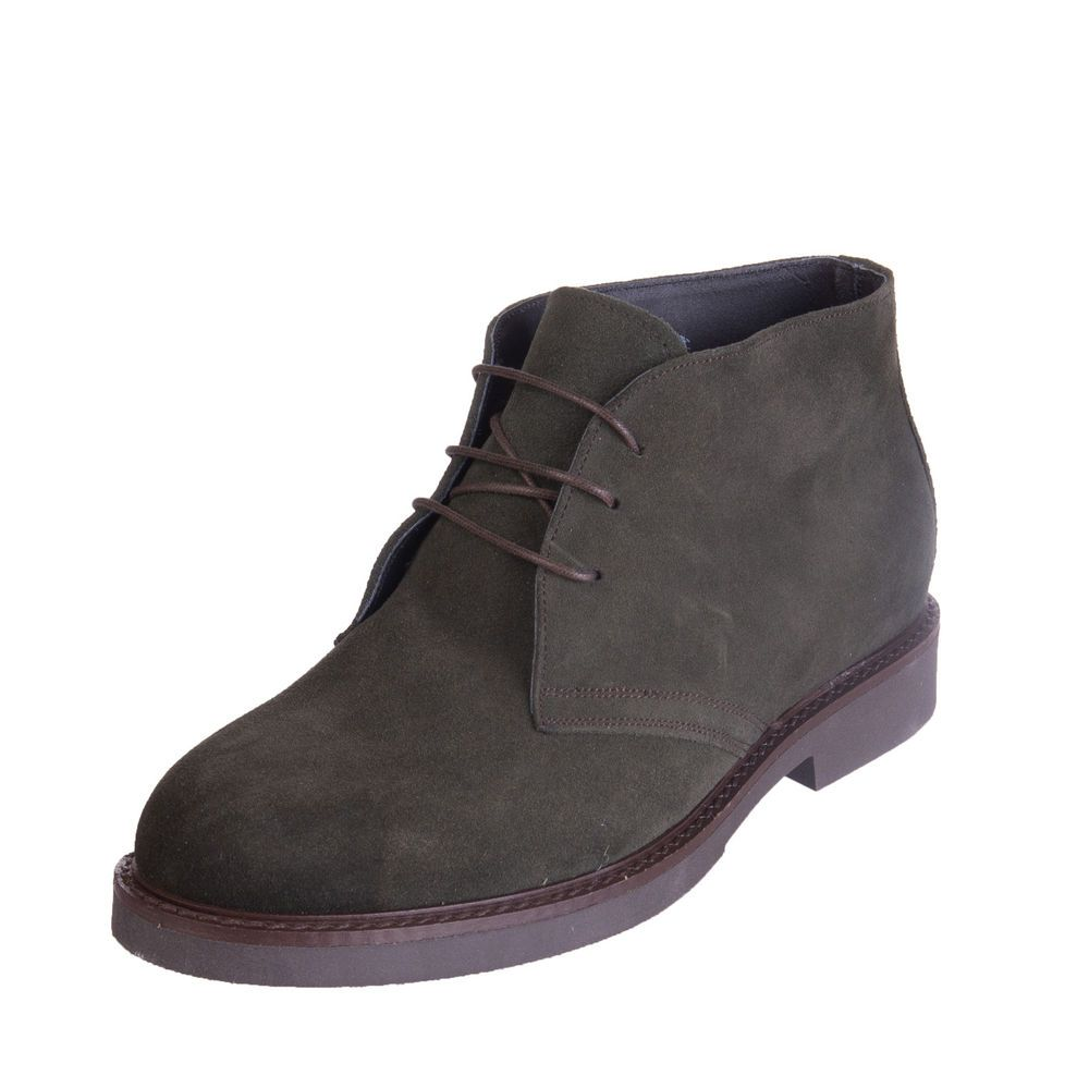 Suede Leather Chukka Boots Size 42 Uk 8 Treated Laced Handmade In