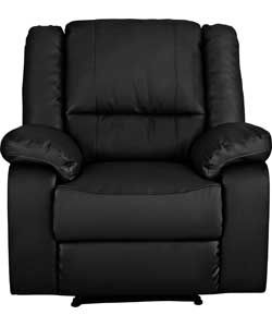 Astounding Home Bruno Leather Effect Manual Recliner Chair Blk Ibusinesslaw Wood Chair Design Ideas Ibusinesslaworg