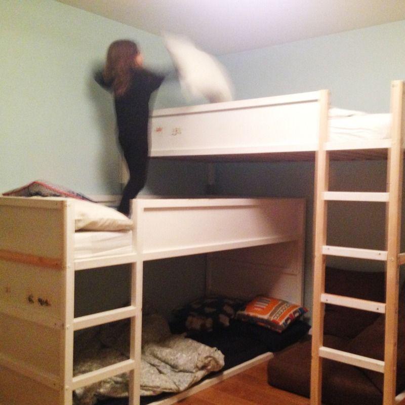 Bunk Bed For Three Kids Room Ikea Hacks 3 Kids 1 Room Pinterest