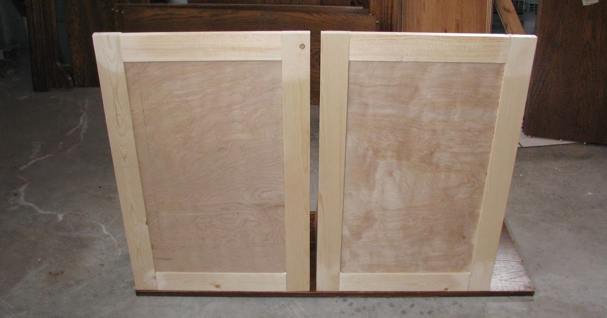 Cabinet Doors I Made These With 1 X2f 2 Quot Birch Plywood For The Middle And 1x3s For Making Cabinet Doors Cost Of Kitchen Cabinets Building Cabinet Doors