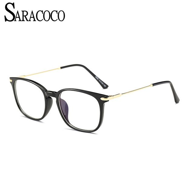 SARACOCO TR90 Clear Lens Myopia Frames Men 2018 Anti-Blue
