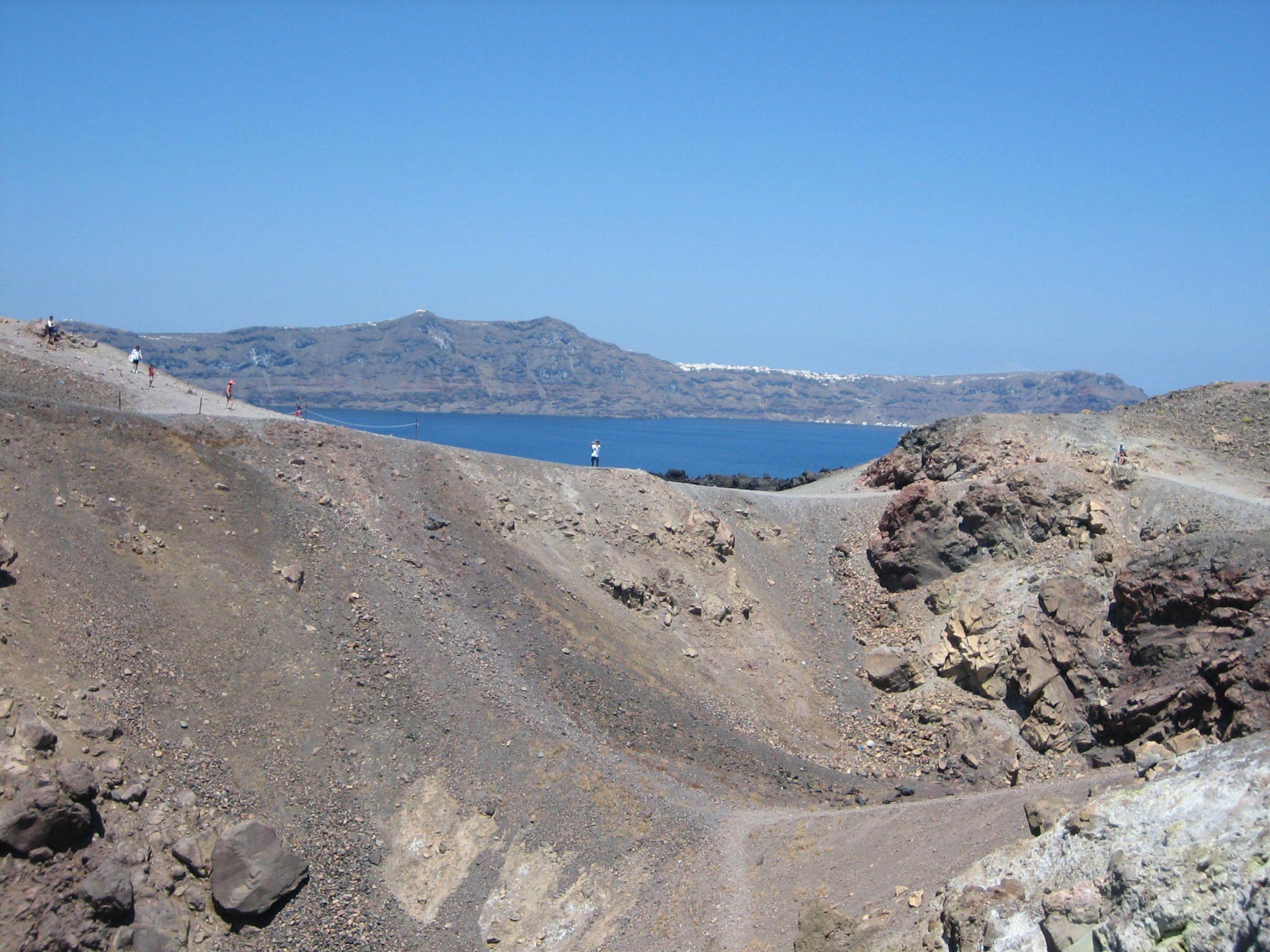 Crater, Nea Kameni Volcano