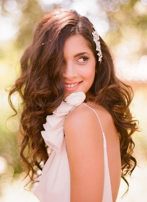 All Down Bridal Wedding Hairstyles All Down Wavy Hairstyle