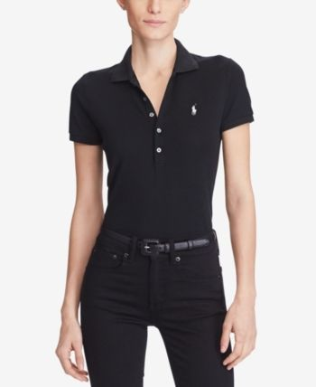 be0baf30 Polo Ralph Lauren Slim Fit Stretch Polo - Black M | Products in 2019 ...