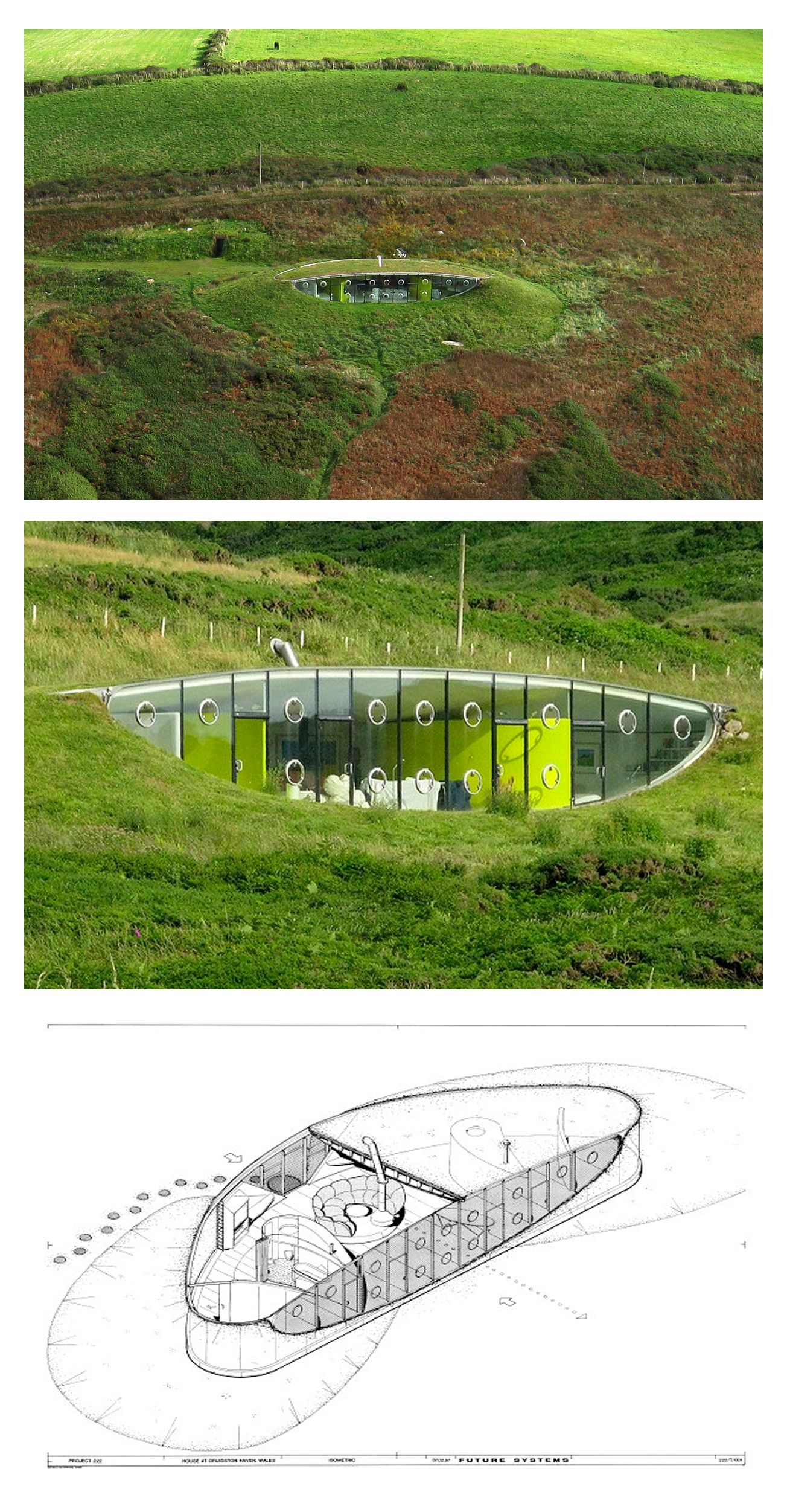 House In Pembrokeshire, Wales By Future Systems   I Used This Build As  Inspiration For An Eco Design House When I Was At College.