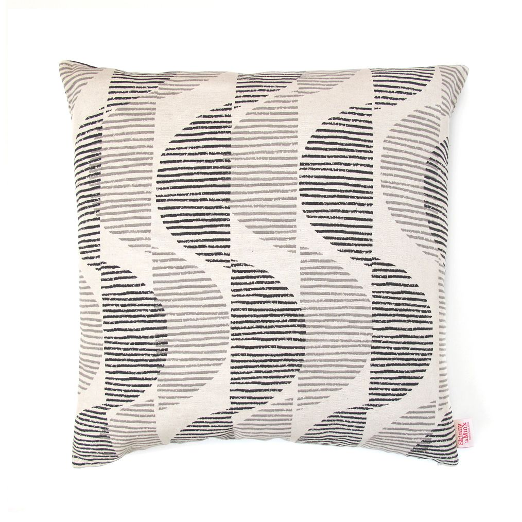 Our pillow covers have a screenprinted design front and back with a