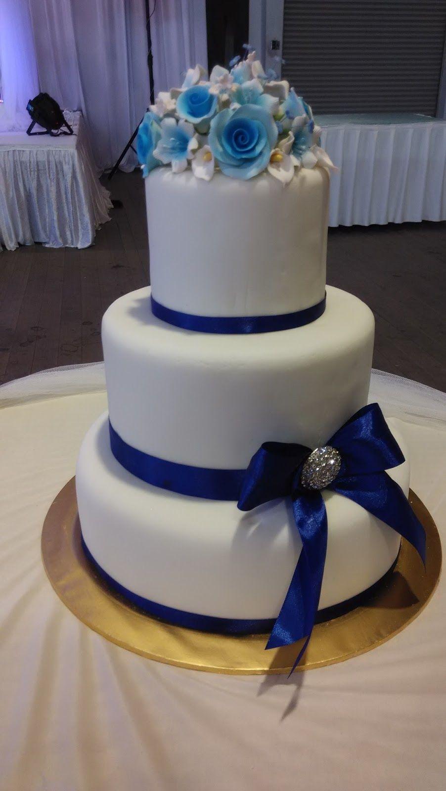 3 tier design simpel wedding cakes 2017 blue themed