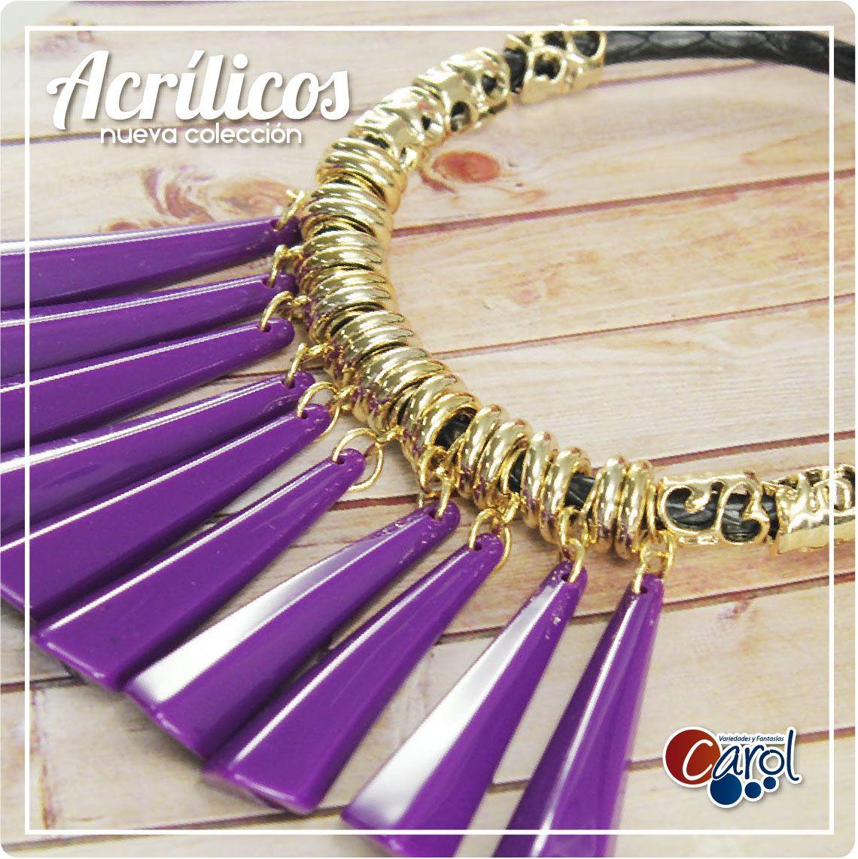 ¡Mucho color! Conoce nuestra novedosa colección de Acrílicos aquí http://goo.gl/uUV5oZ  #moda #accesorios #mujer #acrilicos #estiloglamour #collaresdemujer