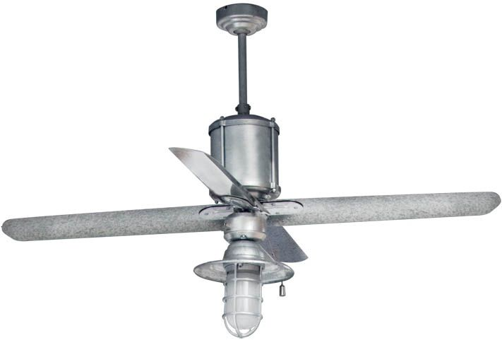 Love the look of this vintage inspired galvanized steel ceiling fan love the look of this vintage inspired galvanized steel ceiling fan would look awesome in a loft or barn style home machine age galvanized ceiling fan aloadofball Images