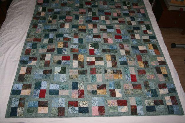 Quilts & patchwork - Quilt, plaid, woondeken, patchwork - Een uniek product van naaldendraad op DaWanda