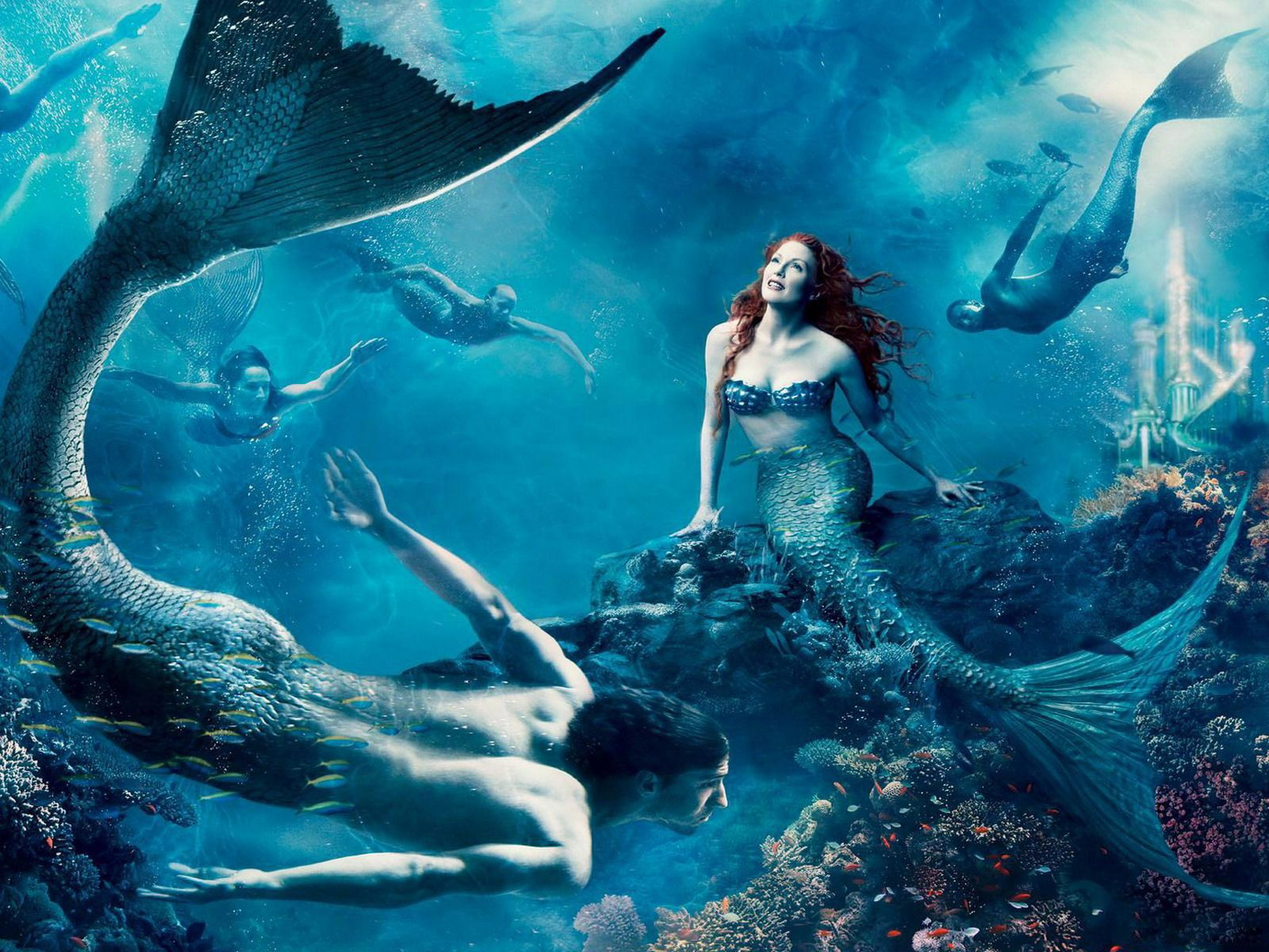 free fantasy art mermaid computer desktop wallpapers pictures images