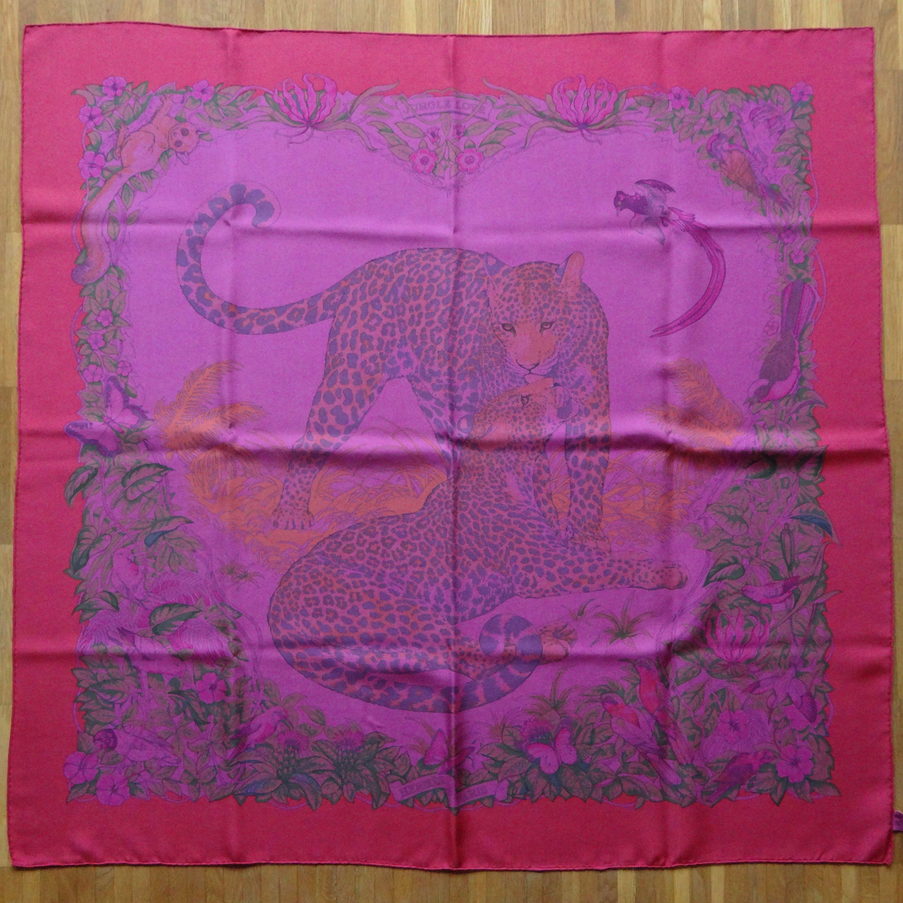 HappyFace313 - Jungle Love by Dallet in Dip Dye silk 90x90cm for sale :-)