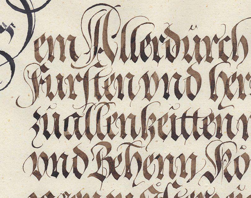 Julian Waters Legacies exhibition piece, a second homage to Johann Neudörffer the Elder (1497-1563)
