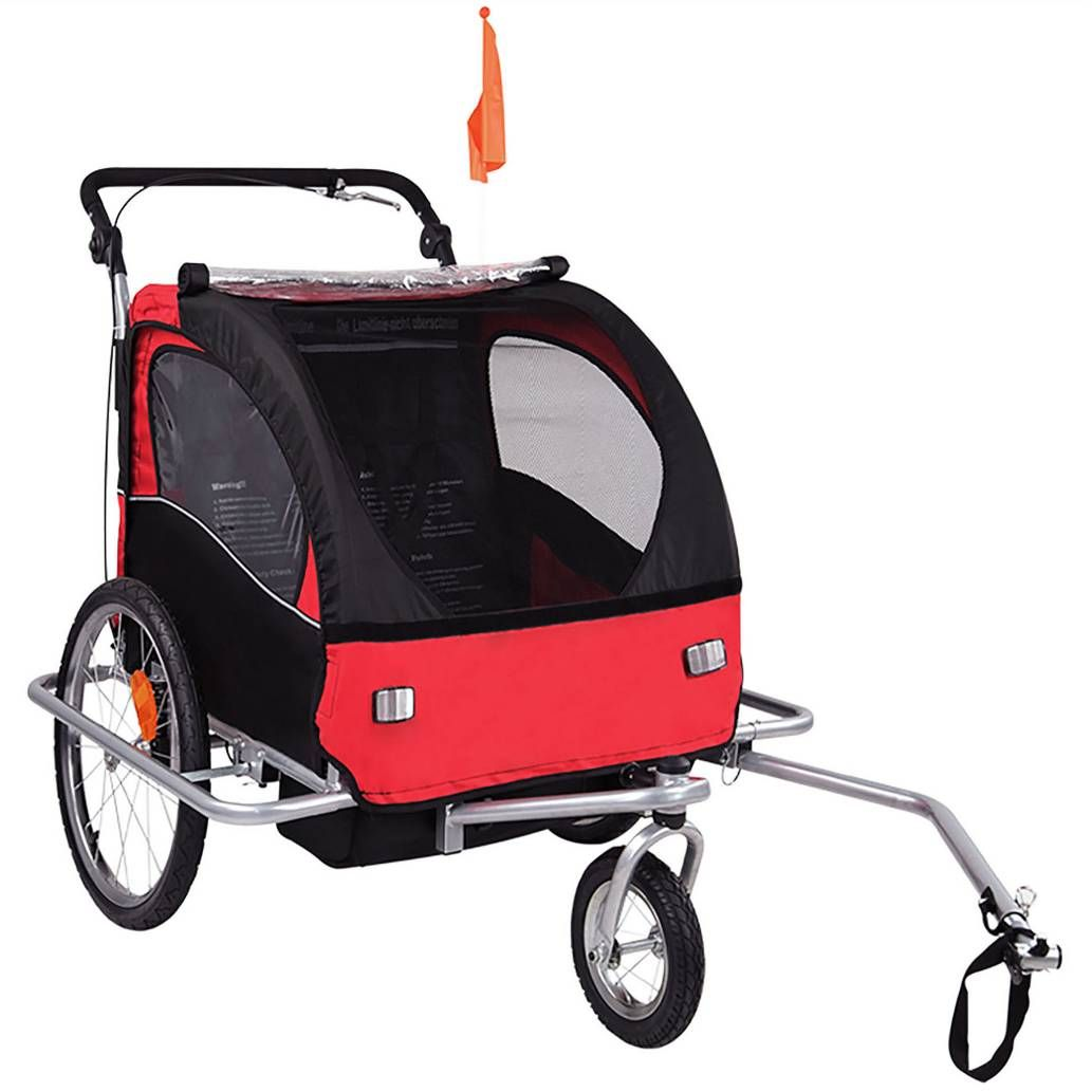 Product Image for Baby Diego 2in1 Double Bike Trailer