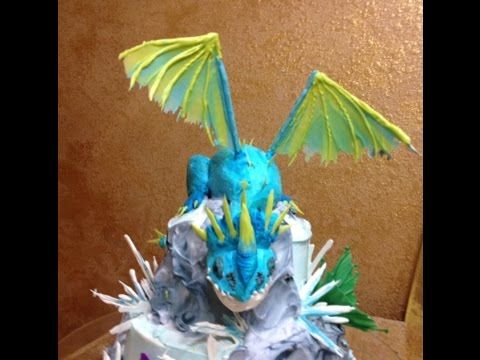 Dragon in Buttercream- Short Version- Cake Decorating- How to Train Your Dragon - YouTube