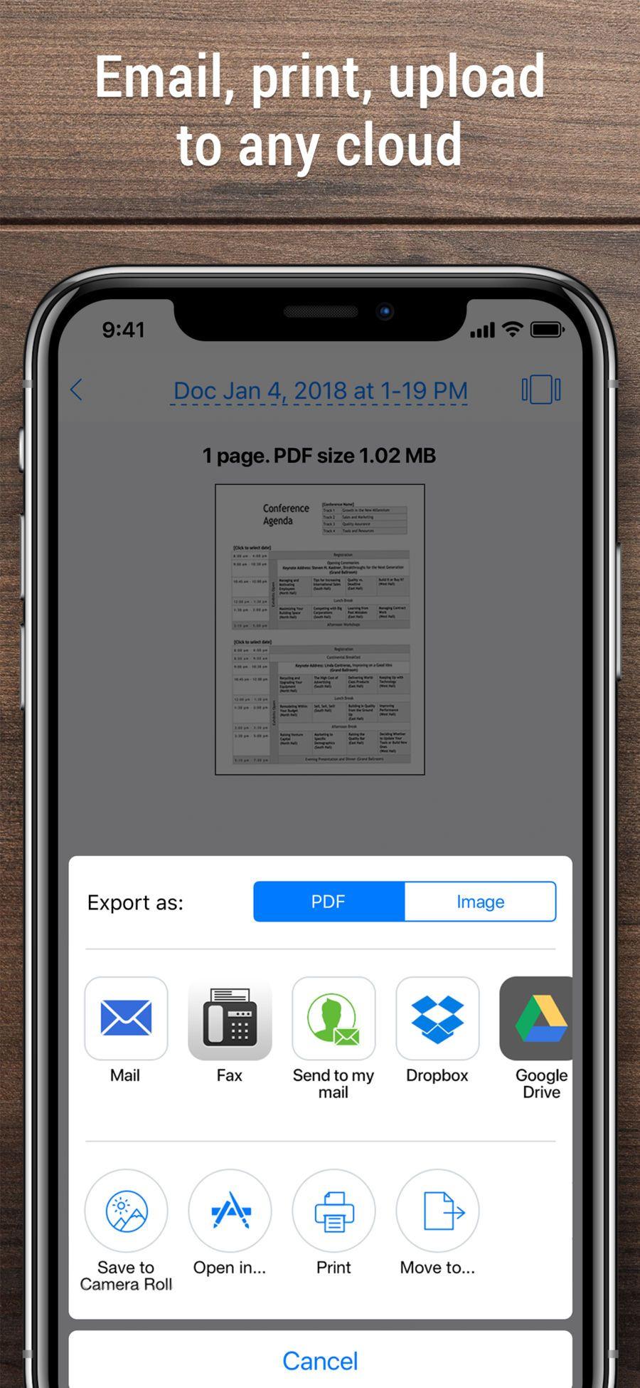 iScanner PDF Scanner App. BusinessBPMobileappsios