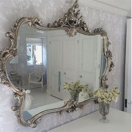 Miss Lala S Silver Looking Glass By The French Bedroom
