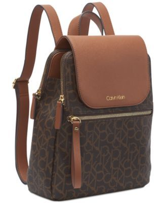 6786013d0ec Calvin Klein Signature Elaine Backpack - Brown in 2019 | Products