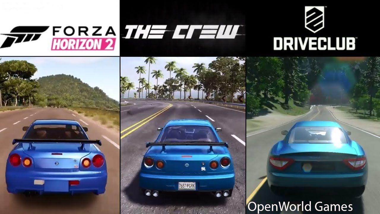 The Crew Vs Forza Horizon 2 DriveClub