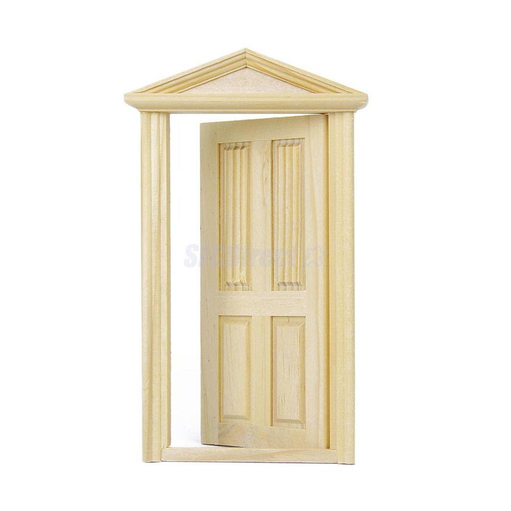 Building /& DIY 1.12 Scale Fixture Dolls House Miniature Internal Door