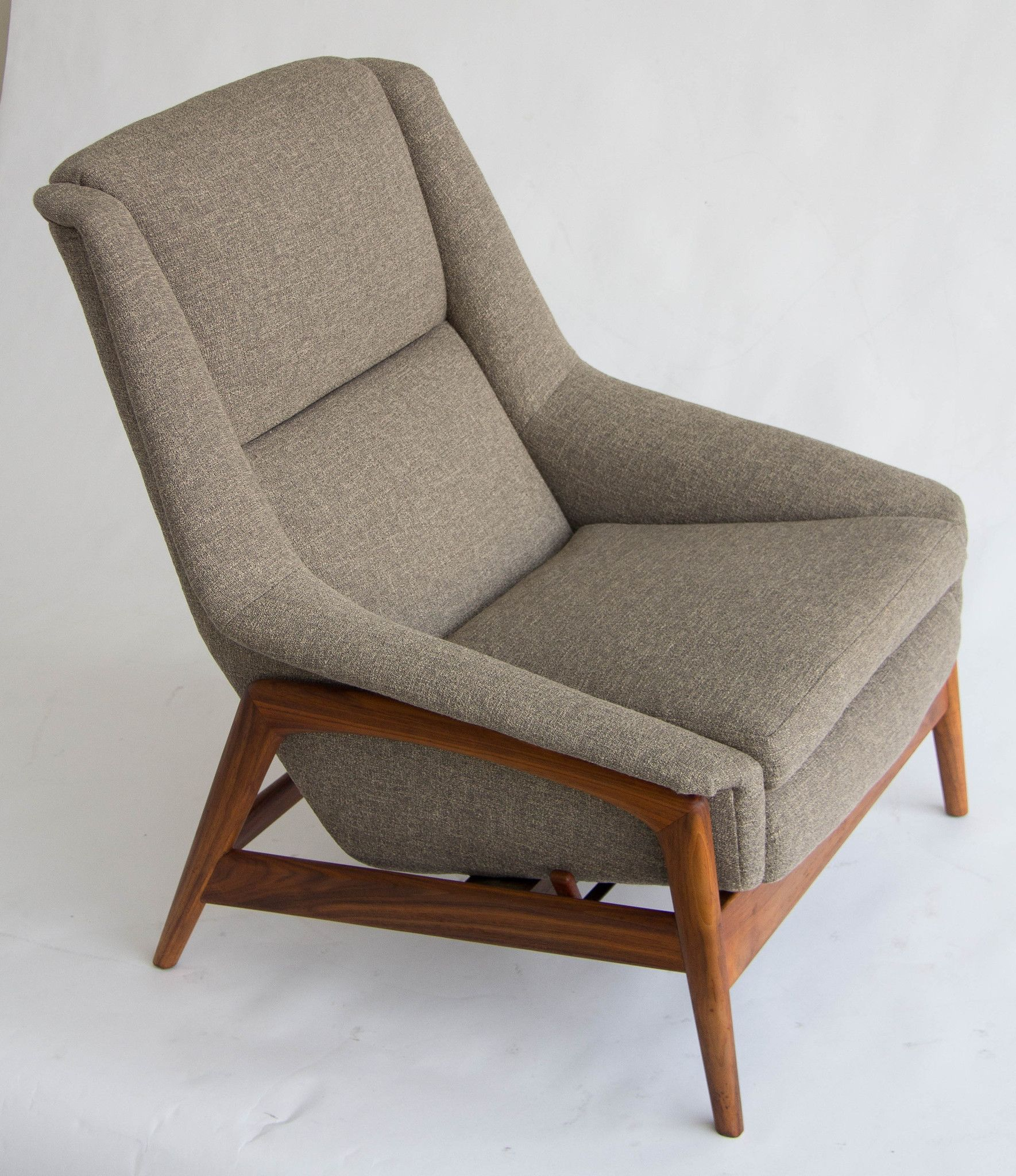 Wonderful Folke Ohlsson Designed This Reclining Lounge Chair And Ottoman For Dux. The  Upholstered Chair Sits