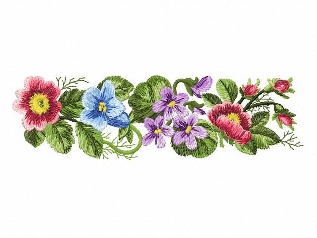 Quot fragrant summer mini border machine embroidery design