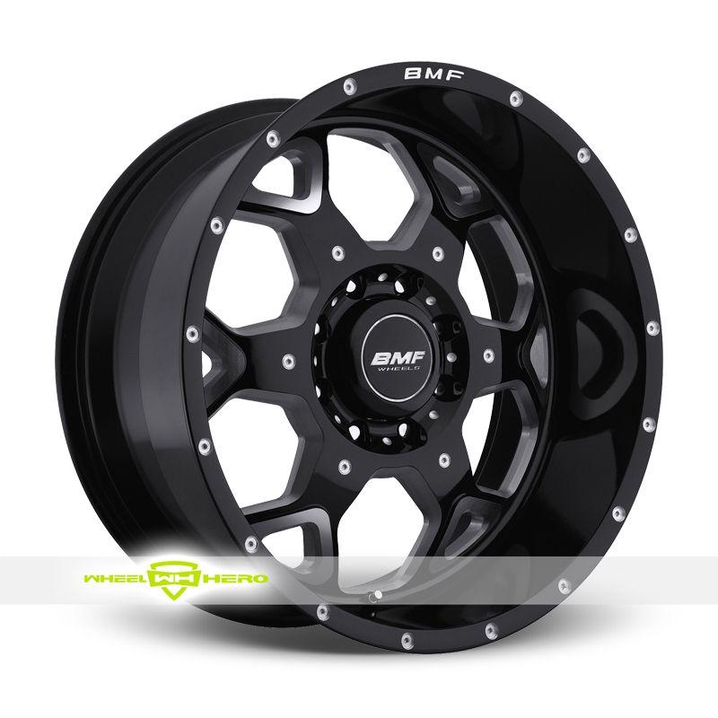 BMF SOTA 8 Black Milled Wheels For Sale- For more info: http://www.wheelhero.com/customwheels/BMF/SOTA-8-Black-Milled