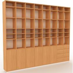 Photo of Holzregal Buche – Modernes Regal aus Holz: Schubladen in Buche & Türen in Buche – 310 x 258 x 35 cm