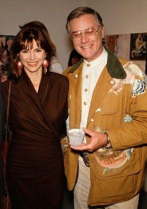 Victoria Principal and Larry Hagman