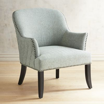 Best Livia Mist Blue Tweed Armchair Armchair Wayfair Living 400 x 300