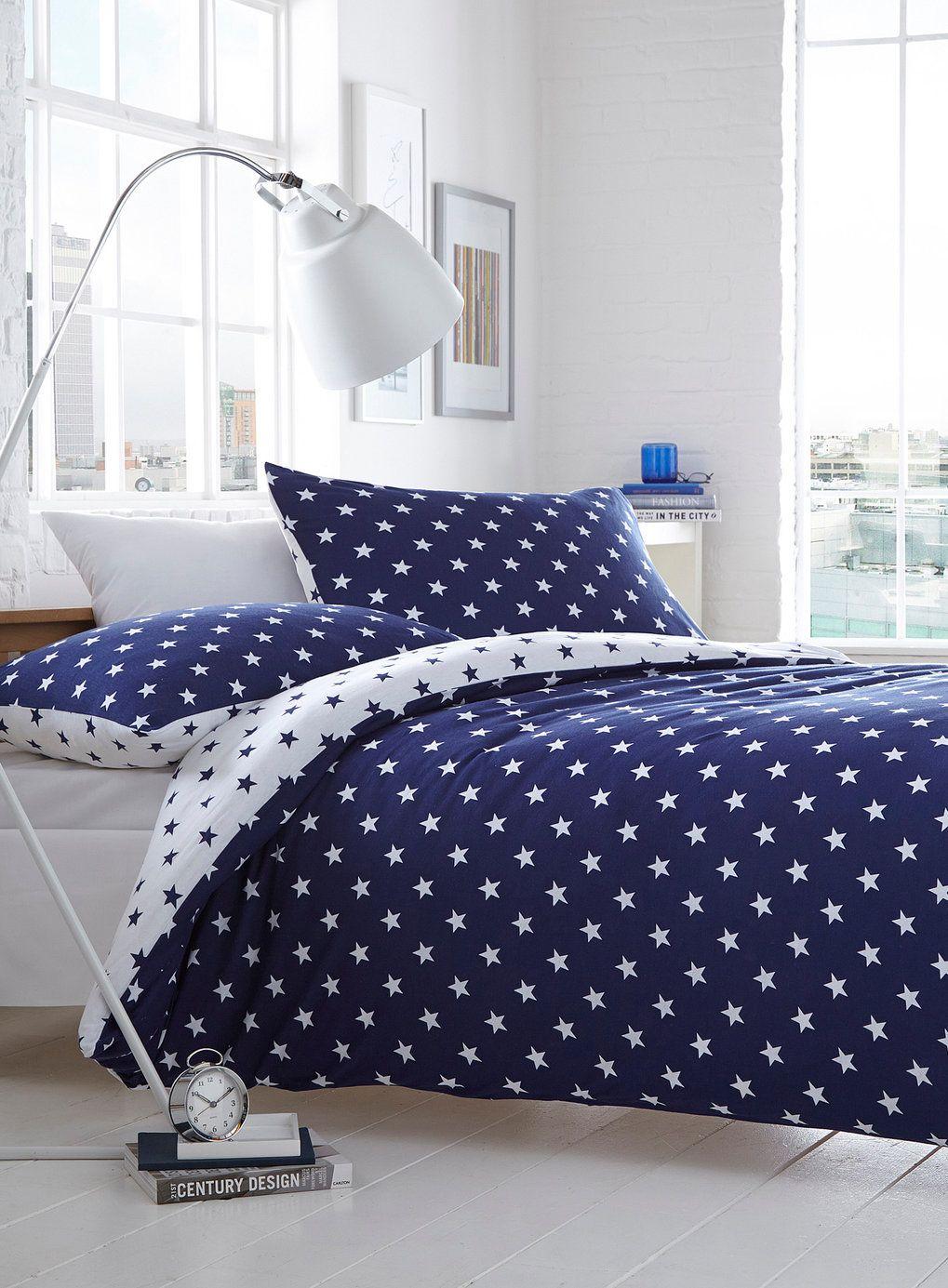 Navy Star Jersey bedding set