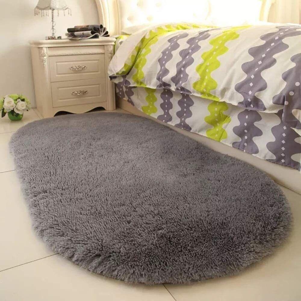 Soft Gray Area Rugs for Nursery Bedroom Floor Baby Carpets